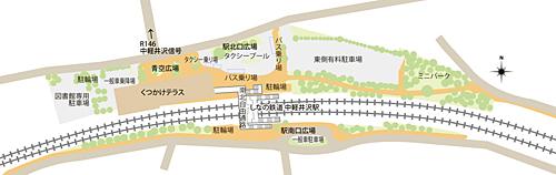 中軽井沢駅周辺地図
